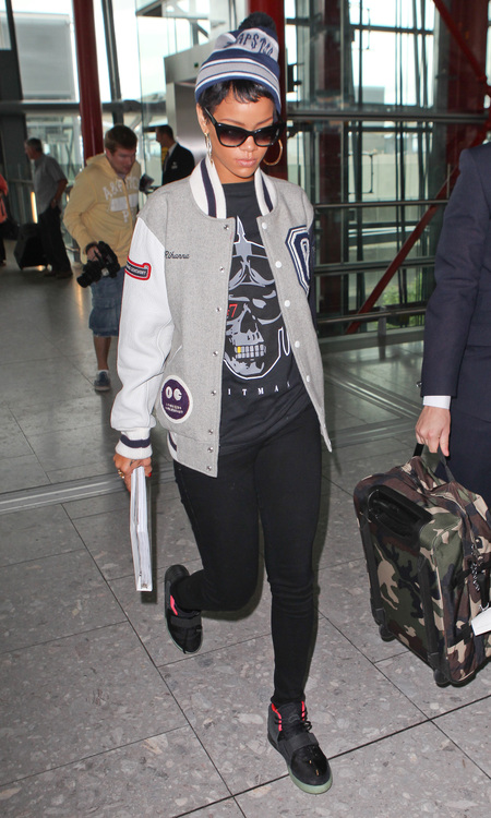 Rihanna at the airport