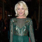 Lydia Bright goes green with sheer and sequin style