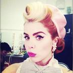 Paloma Faith is retro ready with pink pout