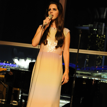 Lana Del Rey performing at Mulberry opening of Singapore flagship