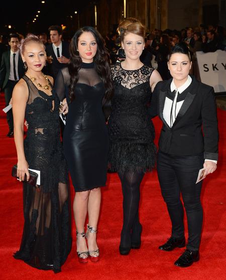 Tulisa, Jade Ellis, Ella Henderson and Lucy Spraggan at Skyfall premiere