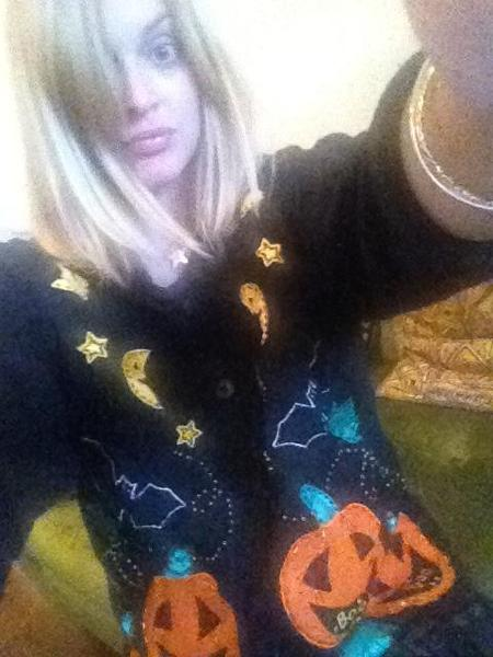 Fearne Cotton Halloween jumper