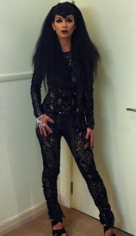 Nicole Scherzinger Julien Macdonald catsuit X Factor 2012 Halloween