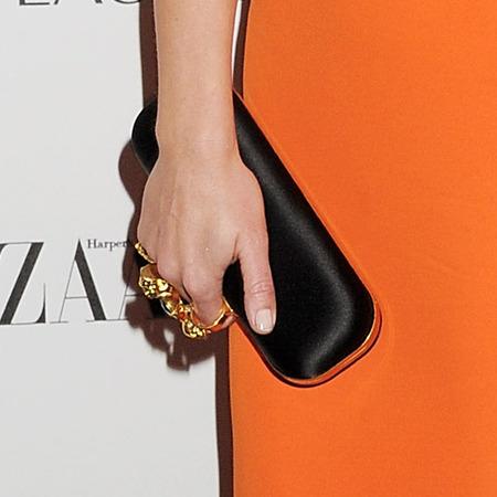 SPOTTED! Emily Blunt's Alexander McQueen clutch