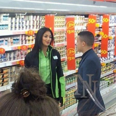 Nicole Scherzinger and Jahmene Douglas in Asda