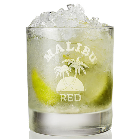 Lime cocktail Malibu Red