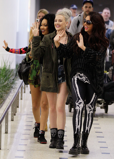 Little Mix Jesy Nelson dons skeleton leggings in Australia