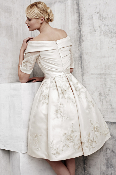 Benjamin Roberts short wedding dress