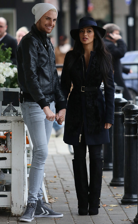 Nicole Scherzinger and Rylan Clark in Essex