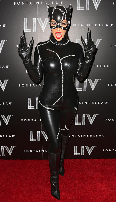 Kim Kardashian catwoman costume