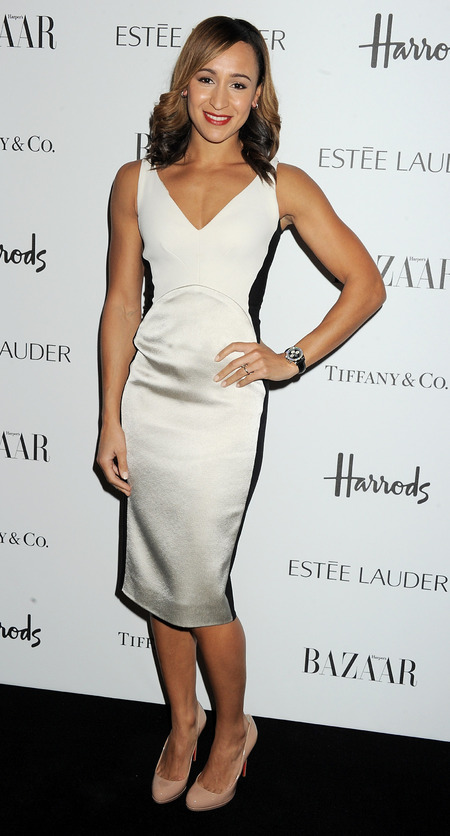 Jessica Ennis stuns in Stella McCartney at Harper's Bazaar Awards