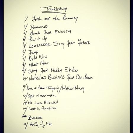 Rihanna Unapologetic tracklist