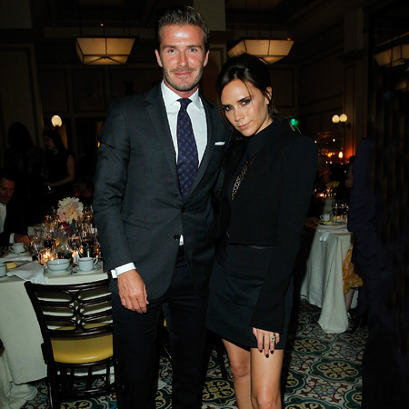 David Beckham and Victoria Beckham at CDFA Vogue Fashion Fund Dinner 2012