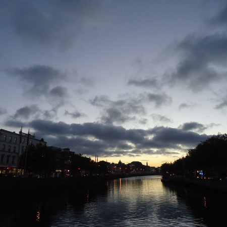 Dublin night sky