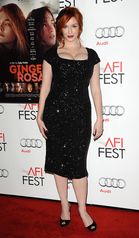 Christina Hendricks sparkles in L'Wren Scott sequin dress