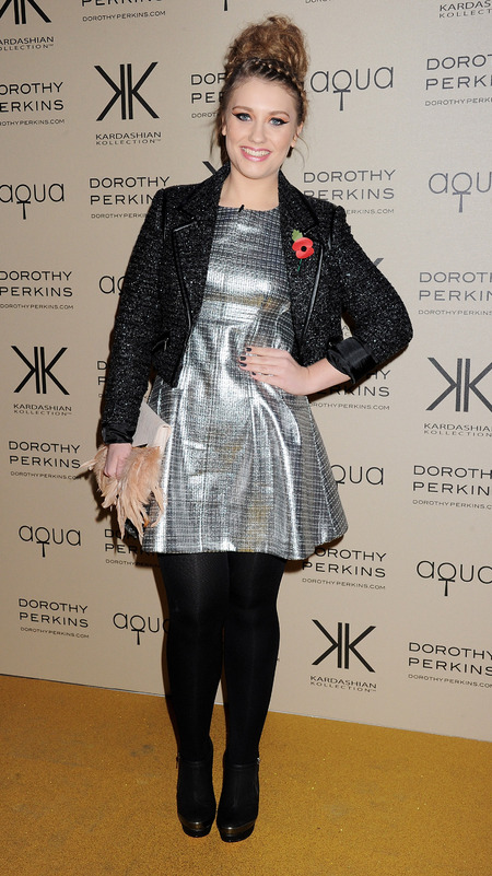 Ella Henderson works metallics at Kardashian Kollection launch
