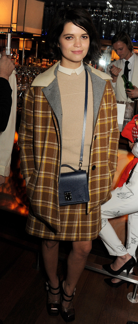 Pixie Geldof doubles up her Louis Vuitton prints at Kate Moss book launch