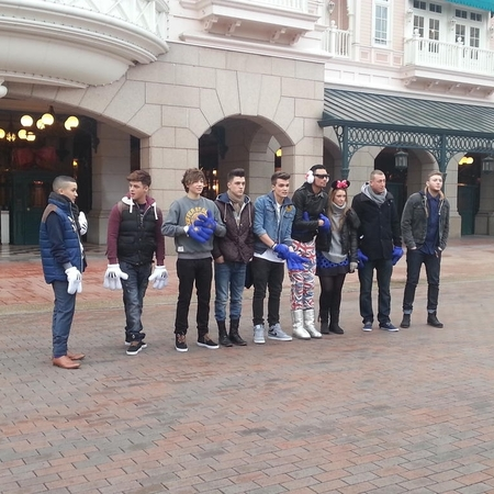 X Factor contestants at Disneyland
