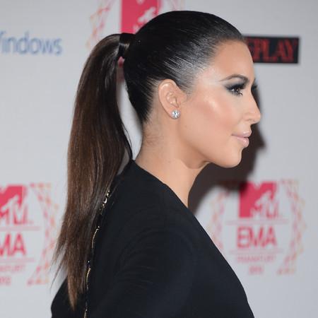 Kim Kardashian hair at mtv ema 2012