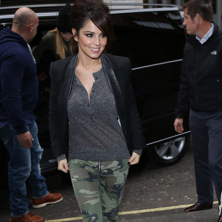 Cheryl Cole at Radio 1 with Girls Aloud