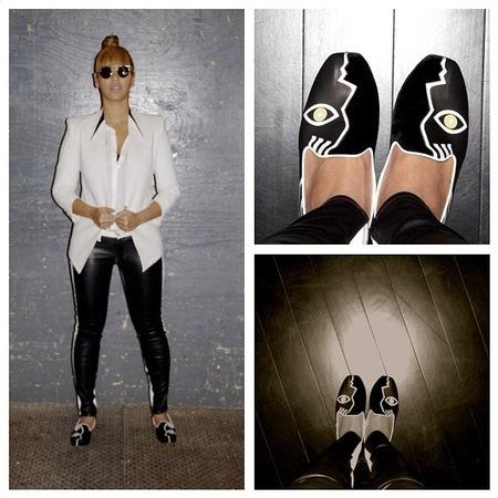 Beyonce's face pumps