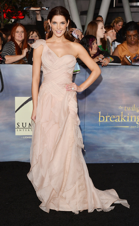 Ashley Greene works whimsical Donna Karen for Twilight Breaking Dawn part 2