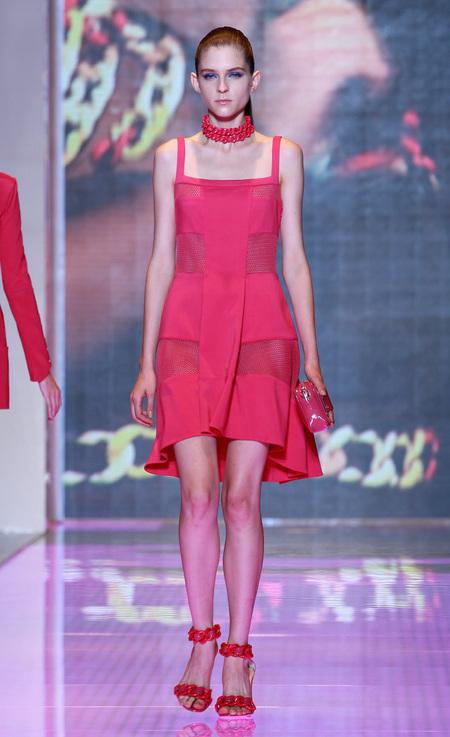 Rihanna dons pretty pink Versus dress for Ellen DeGeneres Show