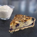 Blueberry Bakewell Tart with Raspberry cream