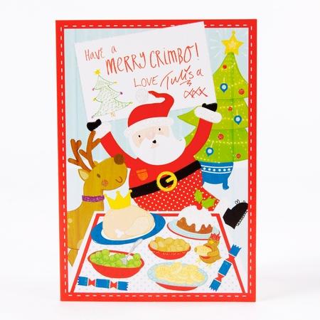 Tulisa Text Santa Christmas Card