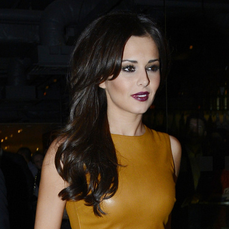 Cheryl Cole is vamp-tastic in mustard leather for Kimberly Walsh's 31st birthday