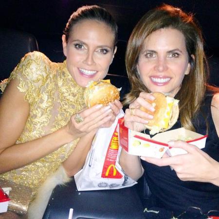 Heidi Klum's McDonald's burger