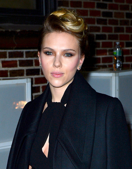 Scarlett Johansson smoulders with sultry beauty