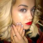 Rita Ora does Gwen Stefani inspired nails