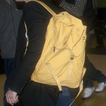 SPOTTED! Kristen Stewart's yellow backpack