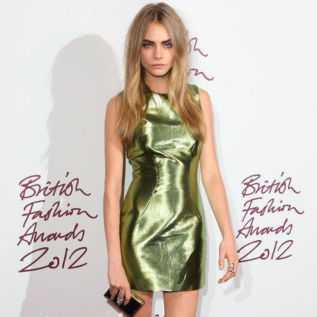 Cara Delevingne in green