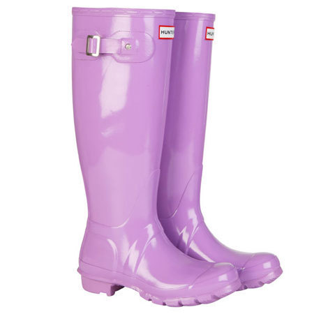 Hunter wellies in lavender