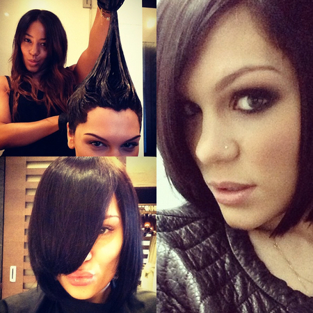 Jessie J goes back to the black bob