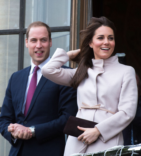 Kate Middleton puts her new fringe to the test in windy Cambridge