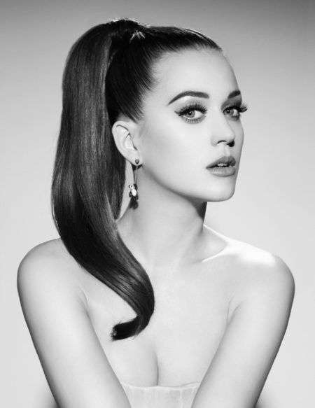 Katy Perry's high ponytail