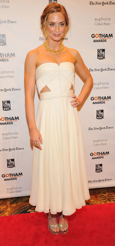 Emily Blunt in Calvin Klein at 2012 Gotham Independent Film Awards