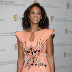 Alesha Dixon works embellished sculptured frock