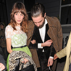 Alexa Chung nails the fit and flare frock in lacy Valentino