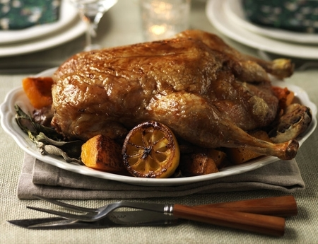 Traditional roast duck