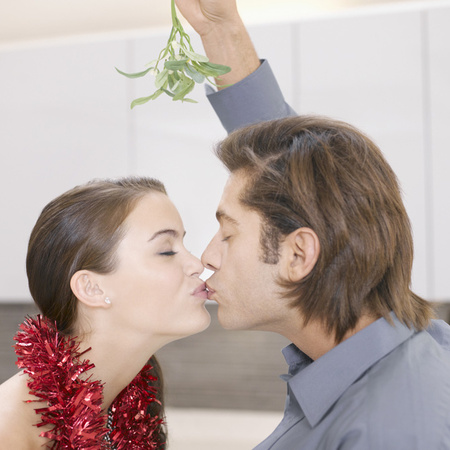 Mistletoe kisses, office flirting
