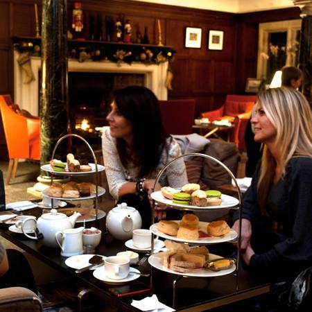 Christmas afternoon tea in the billiard room