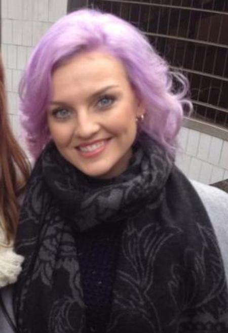Little Mix's Perrie Edwards debuts new purple rinse