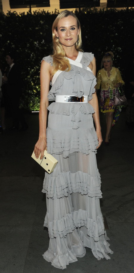 Diane Kruger and her Charlotte Olympia Domino Pandora Perspex clutch