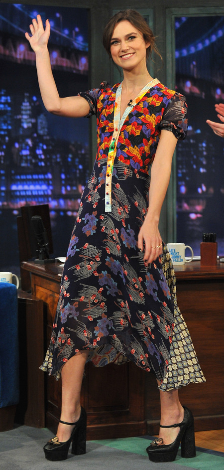 Keira Knightley on Late Night With Jimmy Fallon