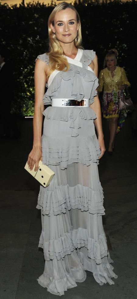 Diane Kruger wears Prabal Gurung Spring 2013