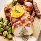 Stuffed turkey with bacon recipe